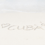 I Love Cuba in the sand